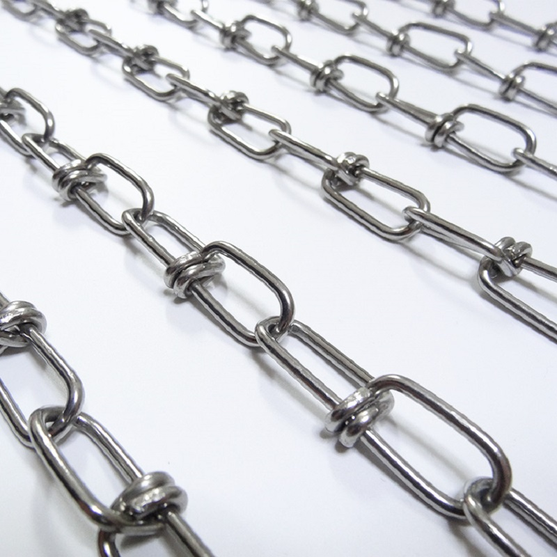 USA standard double loop chain