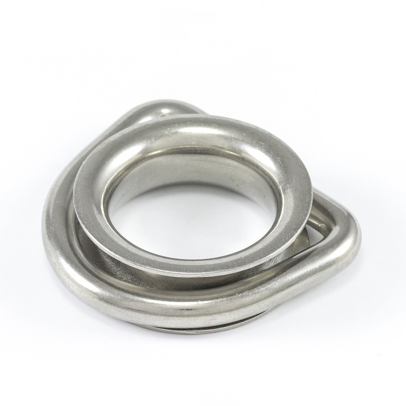Wire Rope D Ring with Round Shave thimble for Sun Shade Sails